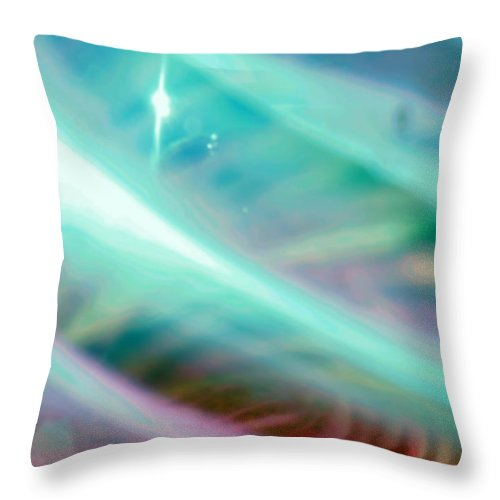Digital Art Throw Pillow featuring the photograph Fantasy Storm by Scott Wyatt