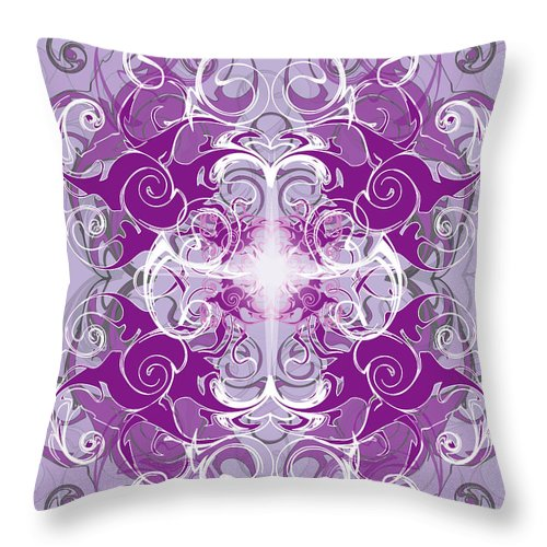 Fantasy Throw Pillow featuring the digital art Fantasyvii by George Pasini