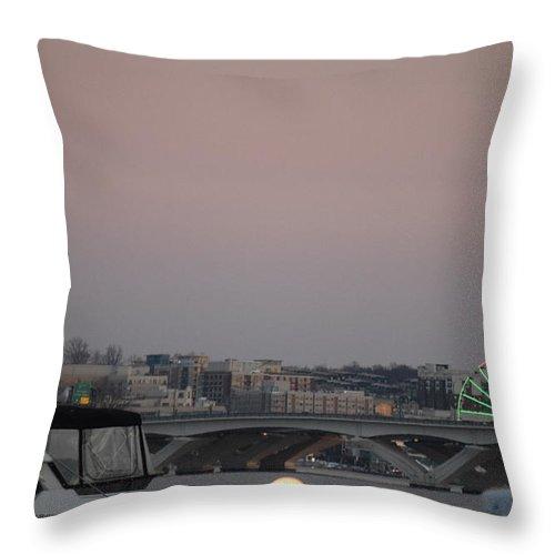 Landscape Throw Pillow featuring the photograph Far Away Ferris Wheel by Lisa Snarr