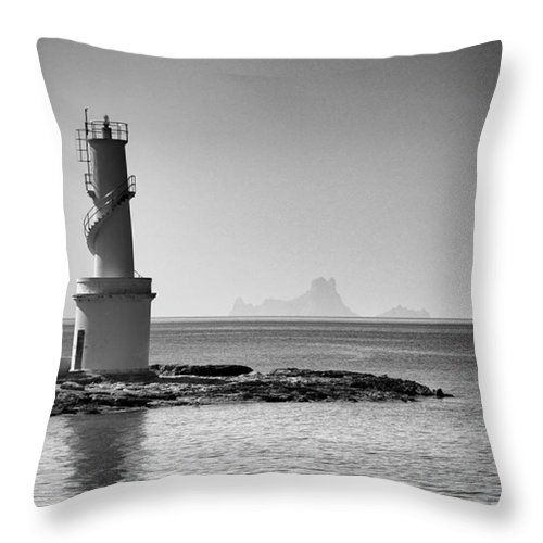 Balearics Throw Pillow featuring the photograph Far De La Savina Lighthouse, Formentera by John Edwards