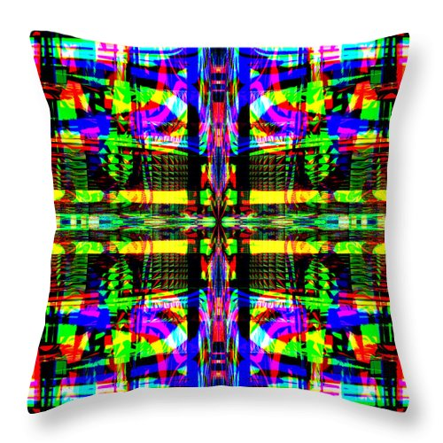 Digital Throw Pillow featuring the digital art Farca by Blind Ape Art