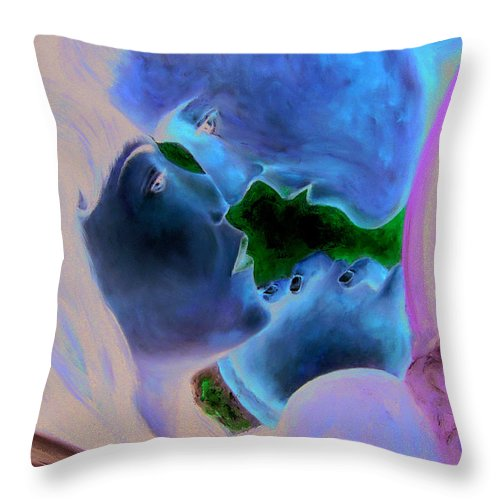 People Throw Pillow featuring the painting Farewell Embrace by Leonardo Ruggieri