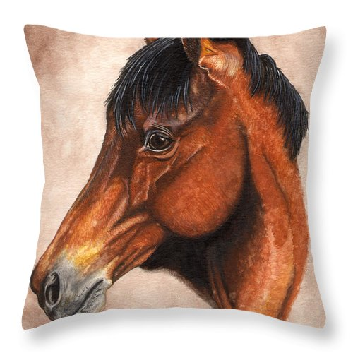 Horse Throw Pillow featuring the painting Farley by Kristen Wesch