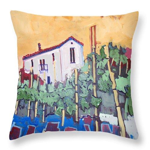 Farm House Throw Pillow featuring the painting Farm House by Kurt Hausmann