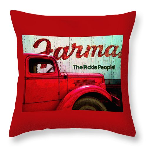 Trucks Throw Pillow featuring the photograph Farman by Jeff Burgess