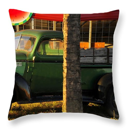 Farmers Market Throw Pillow featuring the photograph Farmers Market by David Lee Thompson