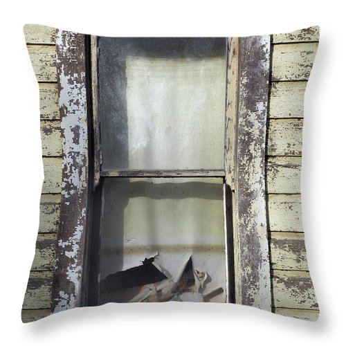 Kevin Felts Throw Pillow featuring the photograph Farmhouse Window by Kevin Felts