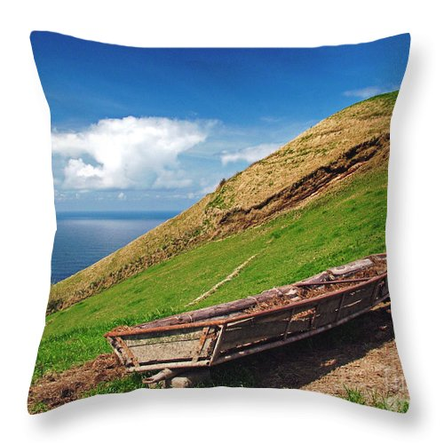 Europe Throw Pillow featuring the photograph Farming In Azores Islands by Gaspar Avila