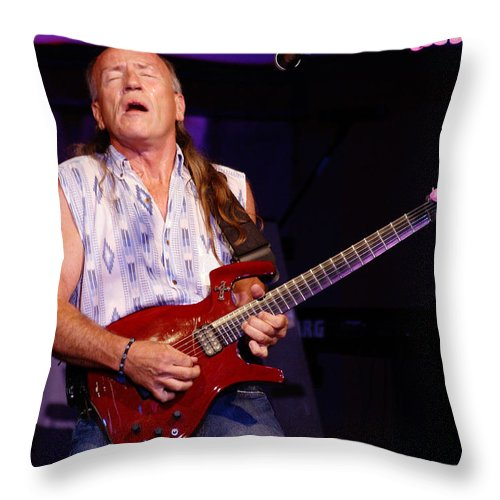 Mark Farner Throw Pillow featuring the photograph Farner #17 by Ben Upham
