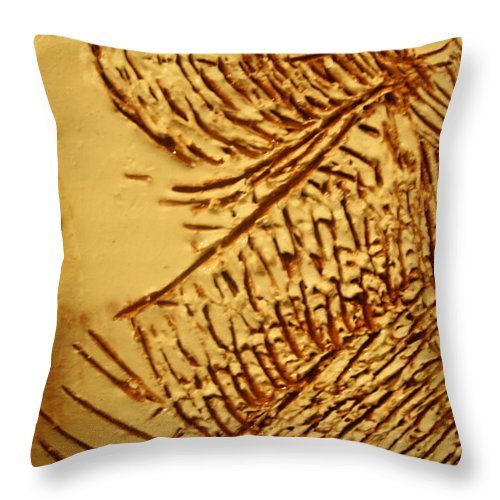 Jesus Throw Pillow featuring the ceramic art Fashion - Tile by Gloria Ssali