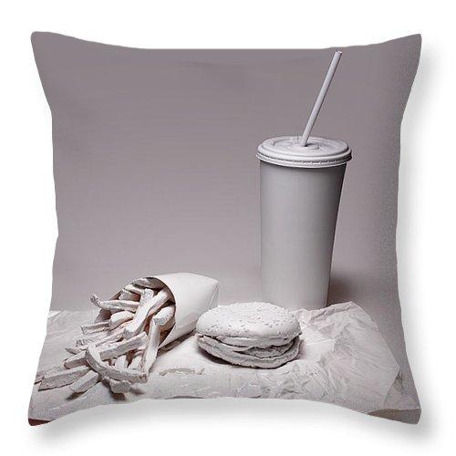 Art Throw Pillow featuring the photograph Fast Food Drive Through by Tom Mc Nemar