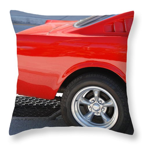 Ford Throw Pillow featuring the photograph Fastback Mustang by Rob Hans