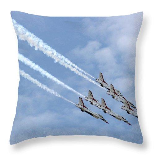Airplane Throw Pillow featuring the photograph Faster Than A Speeding Bullet by David Dunham