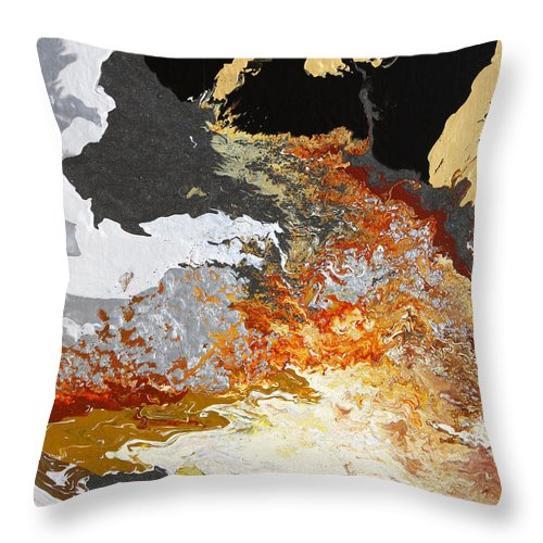 Fusionart Throw Pillow featuring the painting Fathom by Ralph White