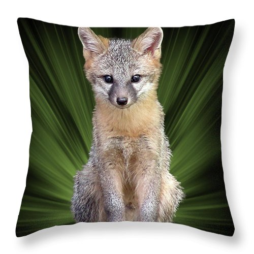 Faunagraph Throw Pillow featuring the digital art Faunagraph by Torie Tiffany