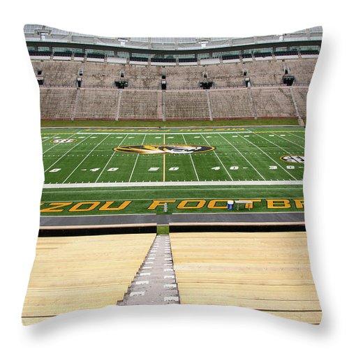 Faurot Field Throw Pillow featuring the photograph Faurot Field by Steve Stuller