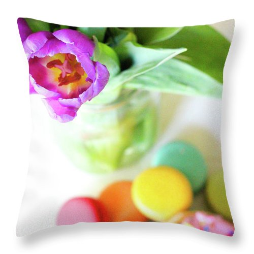 Throw Pillow featuring the digital art Favorite Things by Dalila Muro