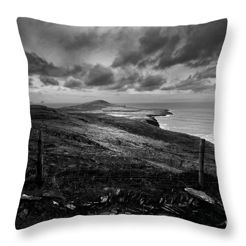 Feaghmaan West Throw Pillow featuring the photograph Feaghmaan West by Smart Aviation