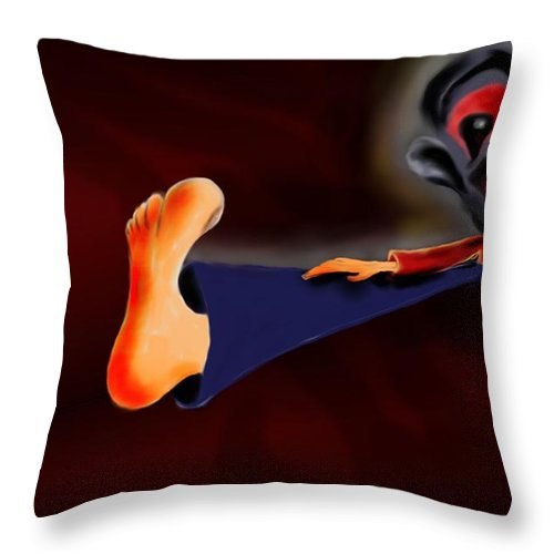 Dream Throw Pillow featuring the painting Fear Dream by Helmut Rottler