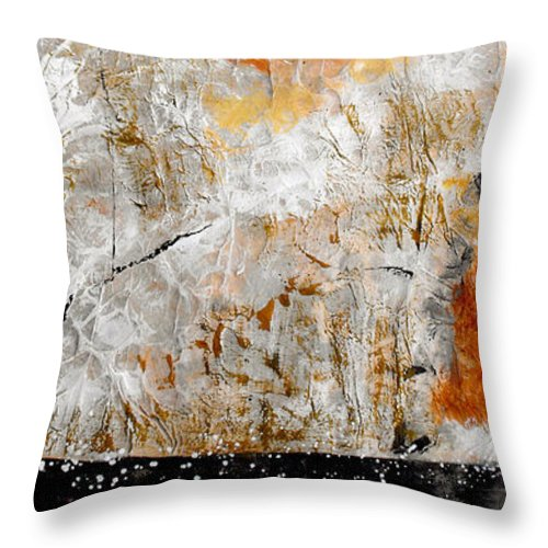 Abstract Throw Pillow featuring the painting Fear Of The Unknown by Ruth Palmer