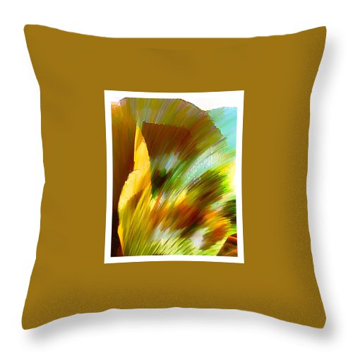 Landscape Digital Art Watercolor Water Color Mixed Media Throw Pillow featuring the digital art Feather by Anil Nene