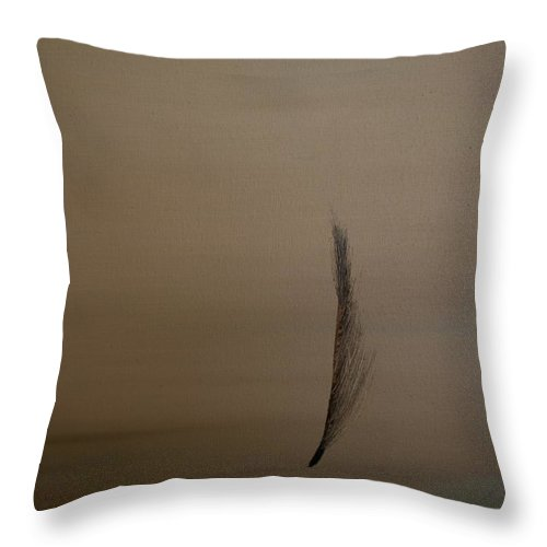 Feather Throw Pillow featuring the painting Feather by Jack Diamond