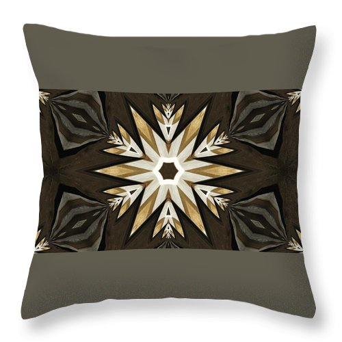 Feathered Star Parquet Throw Pillow For Sale By M E Cieplinski