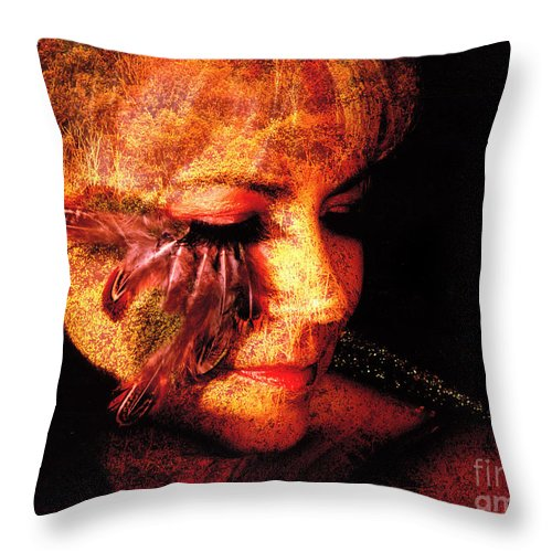 Clay Throw Pillow featuring the photograph Feathers Of Beauty by Clayton Bruster