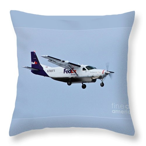 Aircraft Throw Pillow featuring the photograph Feeder by Rick Monyahan