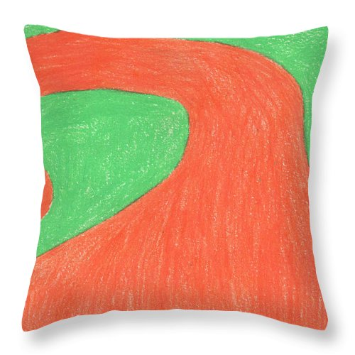 Spiral Tree Throw Pillow featuring the painting Feel Fall by Sindy Original