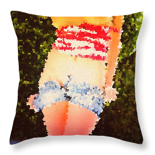 Pietyz Throw Pillow featuring the digital art Feeling Hot by Piety Dsilva