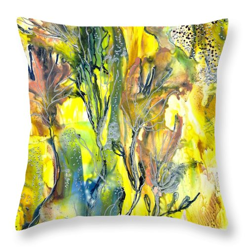 Healing Throw Pillow featuring the painting Feeling Of The Heart by Heather Hennick