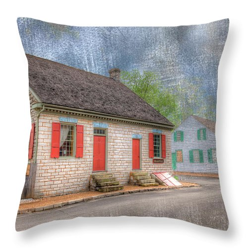 Hdr Throw Pillow featuring the photograph Felix Valle House by Larry Braun