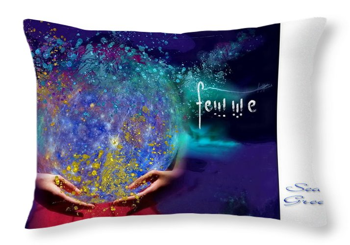 Femme Throw Pillow featuring the photograph Femme by Freddy Kirsheh