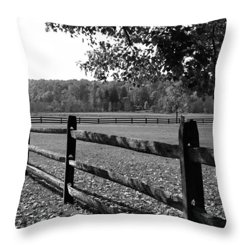 Fence Throw Pillow featuring the photograph Fence Perspective by Kristin Elmquist
