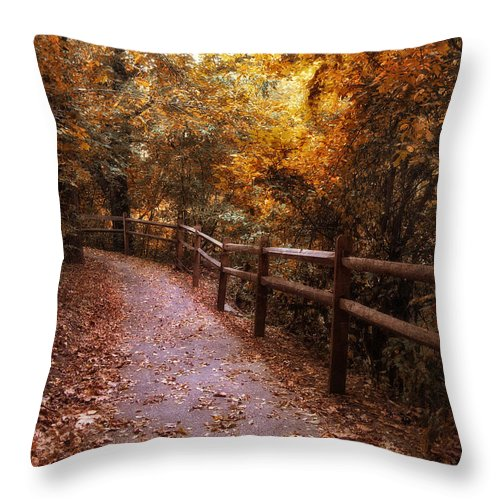 Seasonal Throw Pillow featuring the photograph Fenceline by Jessica Jenney