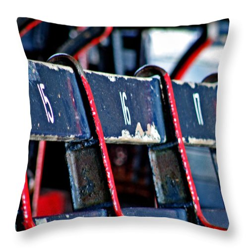 Fenway Park Throw Pillow featuring the photograph Fenway by Donna Shahan