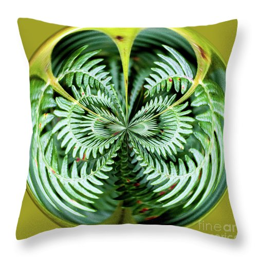 Fern Throw Pillow featuring the digital art Fern by George Cathcart