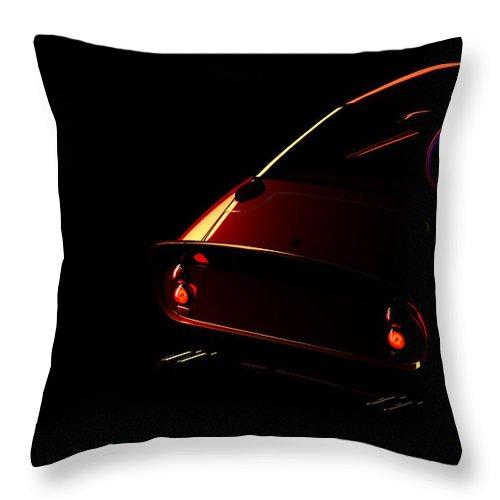 Car Throw Pillow featuring the digital art Ferrari 250 Gto 002 by Alex Rota