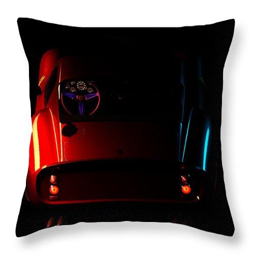 Car Throw Pillow featuring the digital art Ferrari 250 Gto 003 by Alex Rota