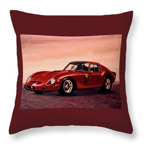 Ferrari 250 Gto Throw Pillow featuring the painting Ferrari 250 Gto 1962 Painting by Paul Meijering