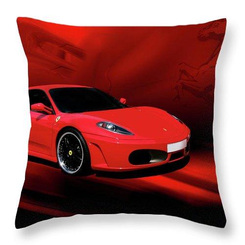 Ferrari Throw Pillow featuring the photograph Ferrari F430 by Joel Witmeyer
