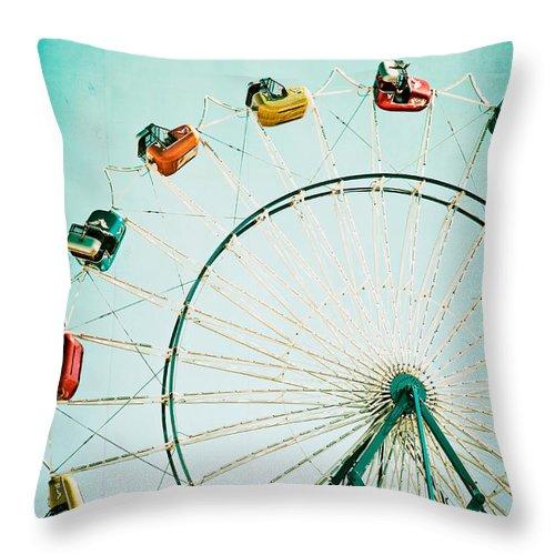 Ferris Wheel Throw Pillow featuring the photograph Ferris Wheel 2 by Kim Fearheiley