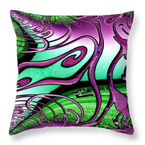 Seattle Throw Pillow featuring the digital art Ferry On Elliott Bay 2 by Tim Allen