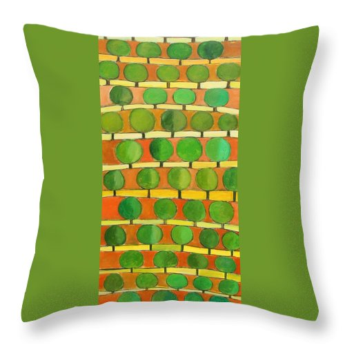 Abstract Throw Pillow featuring the painting Fertile Soil by Habib Ayat