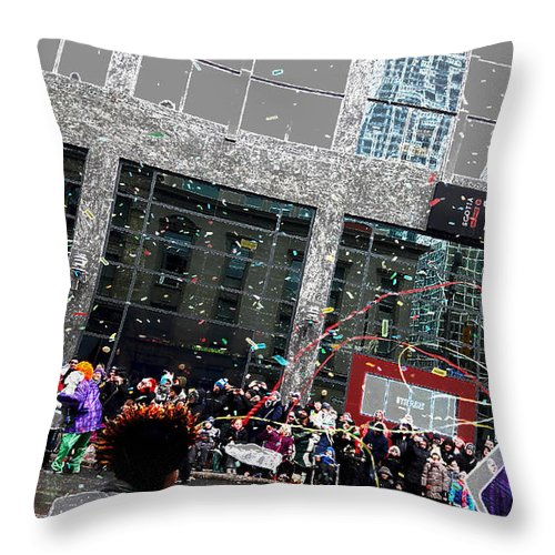 Festival Throw Pillow featuring the photograph Festival Time by Nermine Hanna