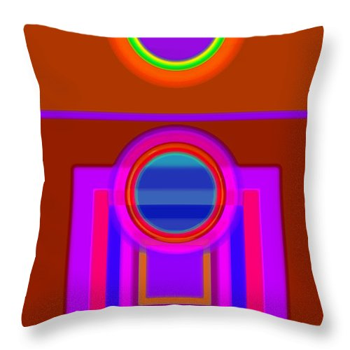 Classical Throw Pillow featuring the digital art Fever Pitch by Charles Stuart