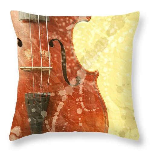 Fiddle Throw Pillow featuring the photograph Fiddle by Michal Boubin