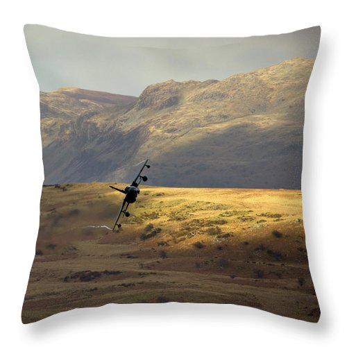 Great Britain Throw Pillow featuring the photograph Fields Of Gold by Angel Ciesniarska