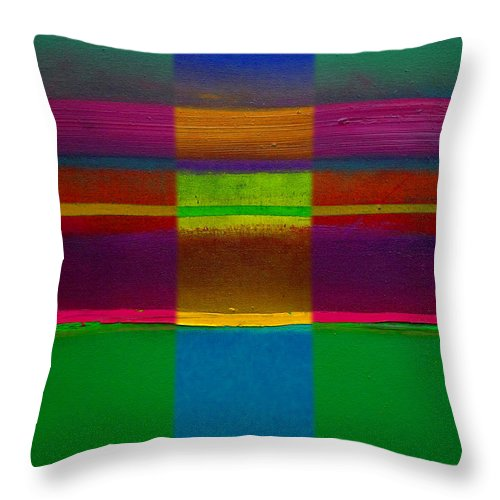 Landscape Throw Pillow featuring the painting Fields Of Green by Charles Stuart